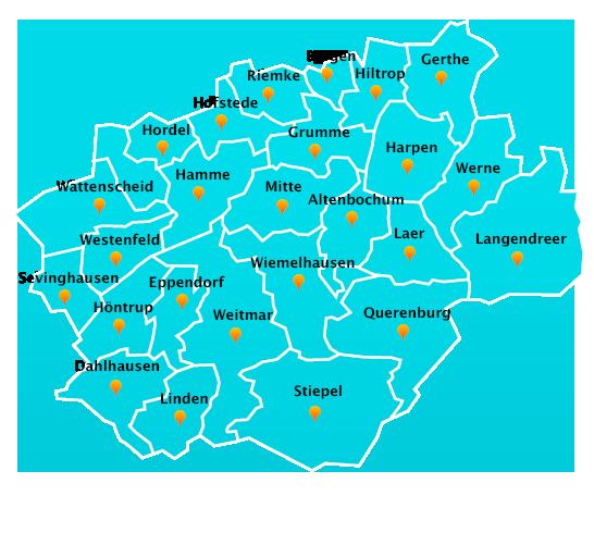 Herne Karte Stadtteile.Fensterreinigungs Touren In Bochum Fensterreinigung Herne
