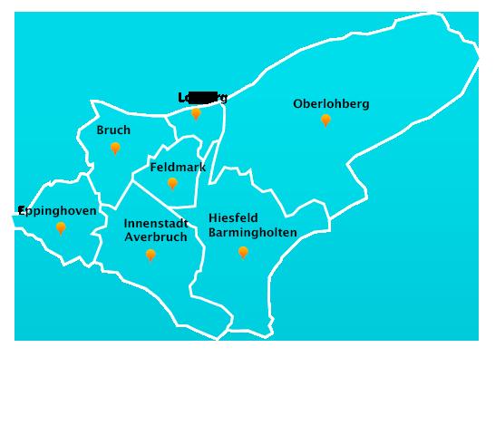 Herne Karte Stadtteile.Fensterreinigungs Touren In Dinslaken Fensterreinigung