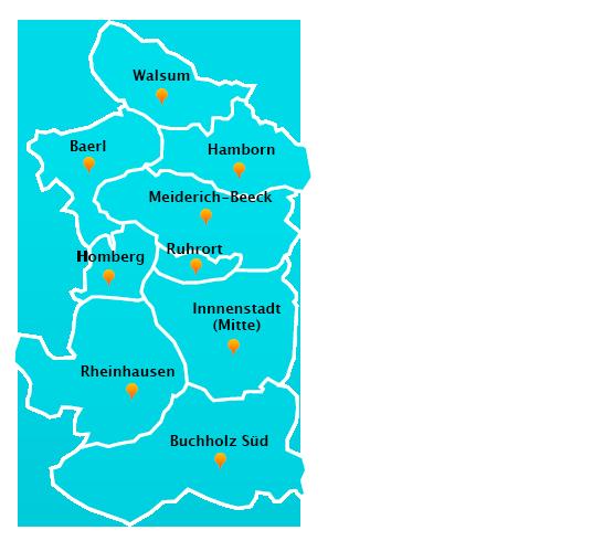 Herne Karte Stadtteile.Fensterreinigungs Touren In Duisburg Fensterreinigung