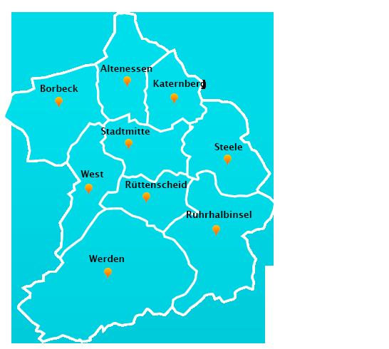 Herne Karte Stadtteile.Fensterreinigungs Touren In Essen Fensterreinigung Herne
