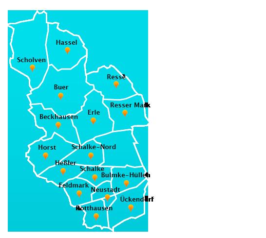 Herne Karte Stadtteile.Fensterreinigungs Touren In Gelsenkirchen Fensterreinigung