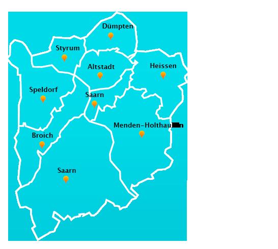 Herne Karte Stadtteile.Fensterreinigungs Touren In Mulheim An Der Ruhr
