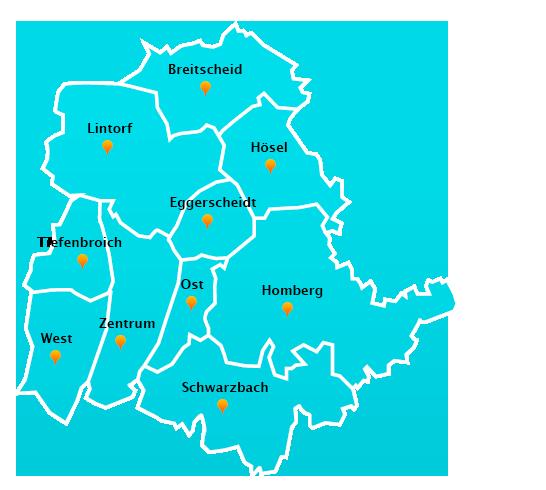 Herne Karte Stadtteile.Fensterreinigungs Touren In Ratingen Fensterreinigung